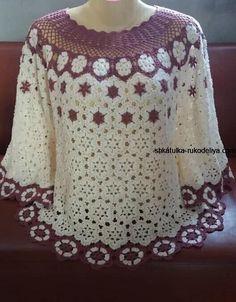 Crochet Tunic Pattern, Gilet Crochet, Granny Square Crochet Pattern, Crochet Flower Patterns, Crochet Stitches Patterns, Crochet Blouse, Baby Knitting Patterns, Prom Dress Black, Crochet Classes