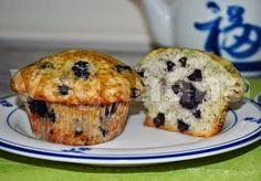 Muffins com Mirtilos ~ Veganana