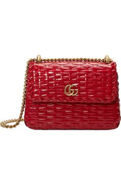 d8b679ebfd3 Gucci Small Linea Cestino Glazed Wicker Shoulder Bag
