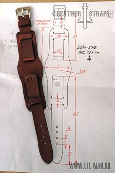 Nicely backed watch strap