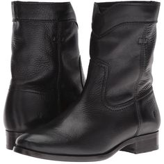 Frye Cara Roper Short (Black Soft Pebbled Full Grain) Women's Pull-on... (36.720 ISK) ❤ liked on Polyvore featuring shoes, boots, ankle booties, ankle boots, black ankle boots, black boots, low heel ankle boots, frye booties and black ankle booties