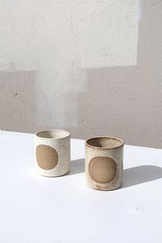 Moon Mug made in Ojai, California by Easy to Breathe. These neutral handmade ceramic mugs are stunning and are a great minimal handmade cup. Ceramic Cups, Ceramic Pottery, Pottery Art, Ceramic Tableware, Pottery Ideas, Wild Poppies, Chaise Vintage, Sustainable Gifts, Decoration