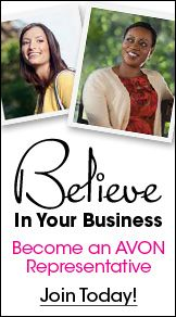 Start your own business for only $10. No kits, no inventory required, no parties, no strings attached.  You can register at www.startavon.com and use reference code: cstrickland1323  or visit www.youravon.com/cstrickland1323 for more information or to contact me.