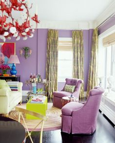Those lilac chairs!!!//lilac rocker for Vivienne's room?