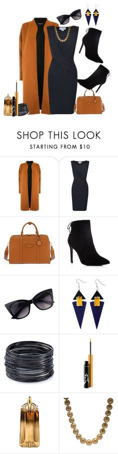 """""""Velvet dress!"""" by schneerose ❤ liked on Polyvore featuring Warehouse, Velvet, Henri Bendel, Charles David, Toolally, ABS by Allen Schwartz, MAC Cosmetics and Thierry Mugler"""