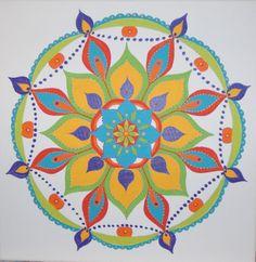 Nr.33 of the Mandala's Angela Hunter Geiss made on her 113 Mandala Journey