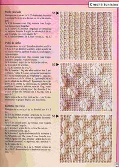 Croche maravilha de arte: Pontos de croche tunisiano