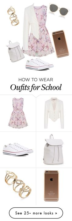 """School?"" by xxbabypiggiesxx on Polyvore featuring STELLA McCARTNEY, Converse, Christian Dior and Aéropostale"