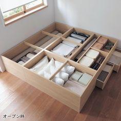 収納も兼ねた畳ユニットが我が家のだんらんスペース。
