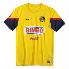 Mens 2012 13 Club América Yellow Home Club America 3700c5f97