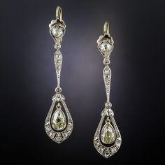 Edwardian Jewelry Gallery | Antique Jewelry University Edwardian Jewelry, Antique Jewelry, Vintage Jewelry, Diamond Earing, Diamond Drop Earrings, Art Deco Jewelry, Fine Jewelry, Book Jewelry, Antique Earrings