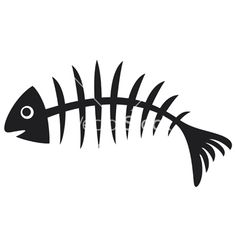 Fish bone (illustration of black fish bone, fish Skeleton) — Stock Vector Saltwater Fishing, Fly Fishing, Fishing Knots, Fishing Tips, Fishing Lures, Fish Bone Tattoo, Fish Skeleton, Bone Stock, Fish Art