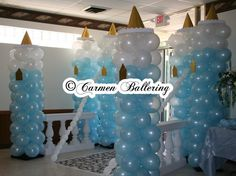Cinderella Theme Weddings & Quinceañeras by Balloons Milwaukee and Carmen Ballering - Make Your's a Memorable Event outside of the door entrance Cinderella Party Decorations, Cinderella Quinceanera Themes, Quinceanera Decorations, Quinceanera Party, Diy Party Decorations, Balloon Decorations, Party Themes, Quinceanera Invitations, Party Ideas