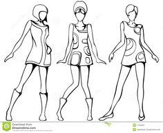 silhouette pour dessin de mode - Recherche Google