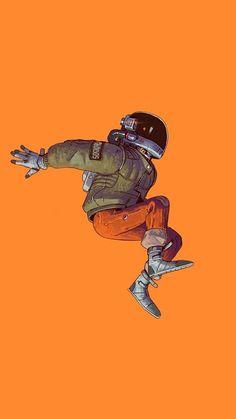 Universe - Morgan Freeman - - picture for you Arte Cyberpunk, Dope Art, Cool Wallpaper, Orange Wallpaper, Aesthetic Art, Cute Wallpapers, Phone Wallpapers, Aesthetic Wallpapers, Art Inspo