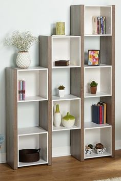 White/Sonoma Oak Urban Room Divider