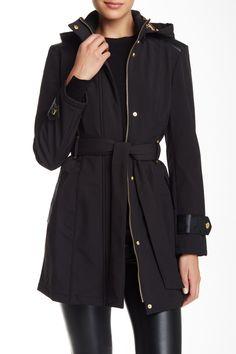 Via Spiga | Belted Softshell Coat | Nordstrom Rack