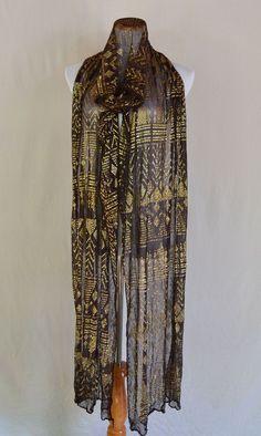 Art Deco Large Assuit 1920's Flapper Shawl Vintage Dresses, Vintage Outfits, Vintage Fashion, Flapper Era, 1920s Outfits, Egyptian Costume, Inspiration Art, Period Outfit, Art Nouveau