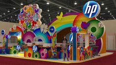 hp by lampuijo , via Behance. A vibrant display of wide-format digital print!