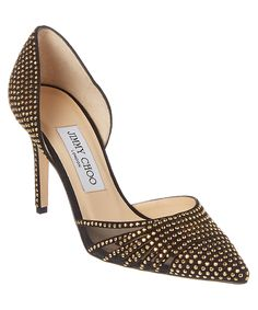 JIMMY CHOO Kyra 85 Embellished Suede Pump'. #jimmychoo #shoes #pumps & high heels