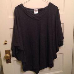 Repair the World Tunic - Grey - Medium Gunmetal gray, Repair the World (brand) sweater/ tunic. It's a medium but fits large. 55% cotton, 45% polyester. Tops Tunics