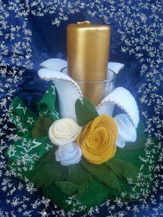 serie candele centrotavola #handmade# https://www.facebook.com/Il-fatta-mano-di-Luisa-327849927338957/# spillo e mirtillo#creativrmamy#creato a mano von oassione