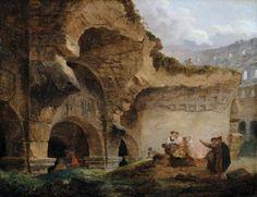 Robert, Hubert (b,1733)- Ruins of Colosseum