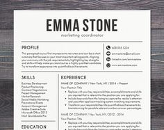 Resume Template Cv Template For Word Mac Or Pc Professional
