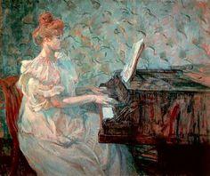 Henri de Toulouse-Lautrec (1864-1901) Misia at the grand piano