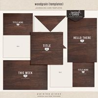 I just bought these! So excited..I LOVE them :) ...woodgrain journaling cards (layered templates)