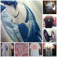 Embroidered T-Shirts, Available on ponymerch.com by GrayTheZebra.deviantart.com on @DeviantArt