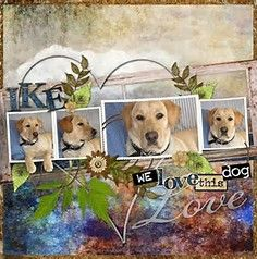 Image result for dog scrapbook page ideas