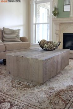 DIY Modern Floating Coffee Table -Free DIY Plans | rogueengineer.com/ #Modern_Floating_Coffee_Table #DIYCoffeeTable