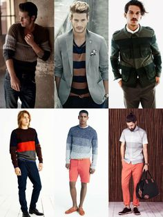 ce625fa0853 Fashion Beans  2014 Men s Fashion trend  striped  colors  sweaters  casual   formal  semiformal