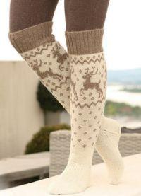 Crochet спици чорапи