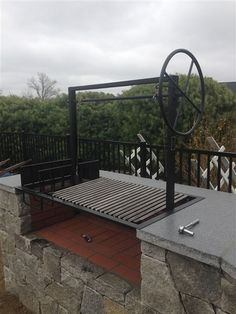 The Persimmon is a Argentine BBQ Grill Kit for your outdoor kitchen. For wood or charcoal grilling with side brasero. Adjustable slanted V-Grate with drip pan & wheel Bbq Grill, Fire Grill, Wood Grill, Grilling, Pit Bbq, Patio Grill, Grill Grates, Outdoor Kitchen Kits, Modular Outdoor Kitchens