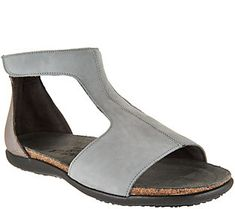 Naot Leather T-Strap Sandals - Nala