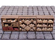 This is a set of three library shelves for diorama, Dungeons & Dragons, Wargaming, etc. This set includes a bookshelf along with two shelving uni Miniature Rooms, Miniature Crafts, Miniature Furniture, Haunted Dollhouse, Dollhouse Miniatures, Mini Things, 3d Prints, Warhammer 40000, Miniture Things