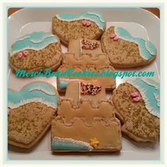 Beach cookies by MerciBeauCookies.blogspot.com