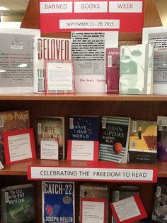22 Displays The Scf Libraries Ideas Scf Display Banned Books Week
