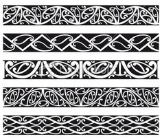 Kowhaiwhai Maori seamless patterns in black. Polynesian Tattoo Designs, Polynesian Art, Maori Tattoo Designs, Celtic Tattoos, Tribal Tattoos, Maori Tattoos, Borneo Tattoos, Ankle Tattoos, Maori Symbols