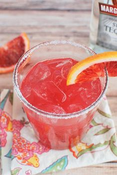 Blood Orange Margaritas - the perfect winter margarita recipe! This is gorgeous and perfect for parties!