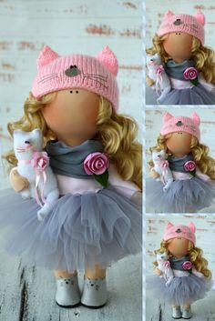 Christmas Doll Poupée Hivers Rag Doll Winter Doll Art Doll Panenka Vinter Fabric Doll Zimy Inverno Tilda Doll Muñecas Pink Doll by Olga S Pink Doll, Fabric Dolls, Have Time, Handmade Gifts, Handmade Products, Art Dolls, Crochet Hats, Crochet Dolls, Doll Clothes