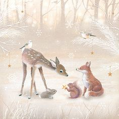 Woodland Friends Giclee Print by sarahsummers on Etsy