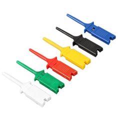 12pcs 6 colores pequeño gancho de la prueba Grabber clip, Sonda único para PCB SMD IC multímetro Cable DIY #colores #pequeño #gancho #prueba #Grabber #clip, #Sonda #único #para #multímetro #Cable