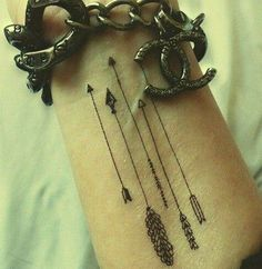 #arrows #tattoo #arrowtattoo