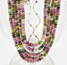 Beautiful strands of Tourmalines. Australian Art, Strands, Jewerly, Fine Jewelry, Handmade Jewelry, Beaded Necklace, Jewelry Design, Fashion Jewelry, Feminine