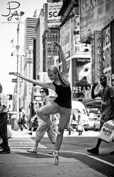 just dance, dancer, toe, New York, black and white
