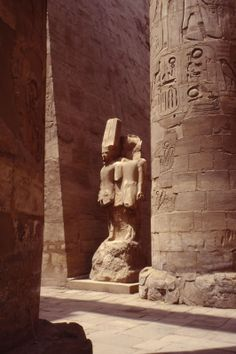 Statue in Karnak, Luxor, Egypt that moved me to tears and I have no idea who it depicts.