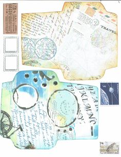 This video is detailed on making tags, envelopes and belly bands for a travel journal.